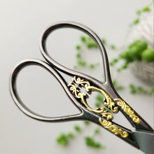 Load image into Gallery viewer, Vintage Flourish Scissors - Slate & Gold