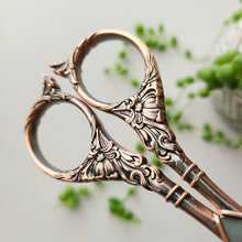 Load image into Gallery viewer, Ornate Vintage Scissors - Rose