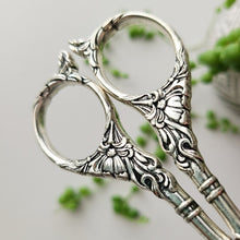 Load image into Gallery viewer, Ornate Vintage Scissors - Silver