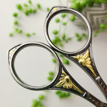 Load image into Gallery viewer, Vintage Floral Scissors - Slate & Gold