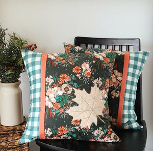 "Maple Leaf Pillow Kit - Two 18"" Square Pillows"