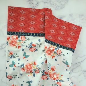 Cozy & Joyful Frosted Roses Pillowcase Kit