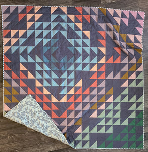Kaleido Moonstone Quilt Kit - THROW Size