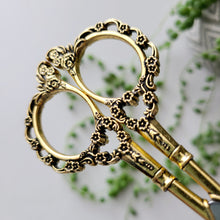 Load image into Gallery viewer, Vintage Floral Scissors - Gold