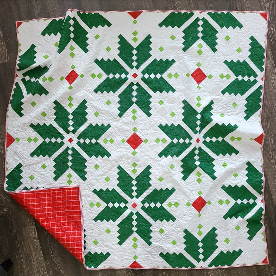 Holiday Knitted Star Quilt Kit