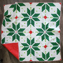 Load image into Gallery viewer, Holiday Knitted Star Quilt Kit