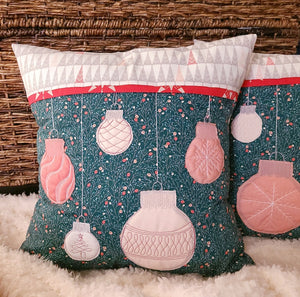 "Jolly Holiday Pillow Kit - Two 17"" Square Pillows"