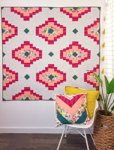 "Reba Christine- Pollinate Quilt Kit - 64"" x64"""