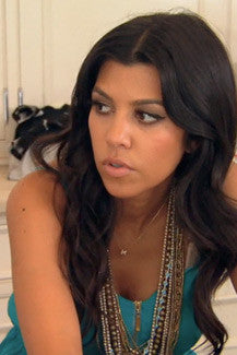 Kourtney Kardashian on the Keeping up with the Kardashians