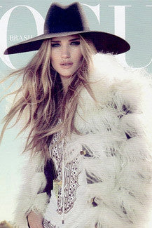 Rosie Huntington Whitely wears Heather Gardner necklace for the cover of Vogue Brazil Magazine.