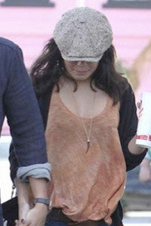 Vanessa wearing Boho Tusk Necklace in Tortoise