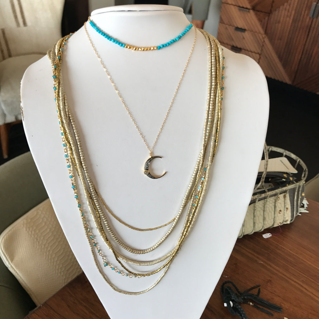Heather Gardner jewelry featured at Soho House in Malibu, CA