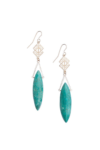 Arizona Turquoise Chain Earrings