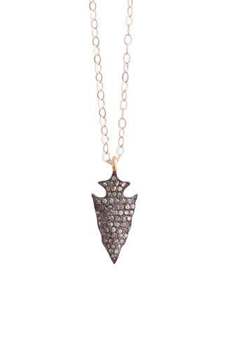 Diamond Arrowhead Necklace