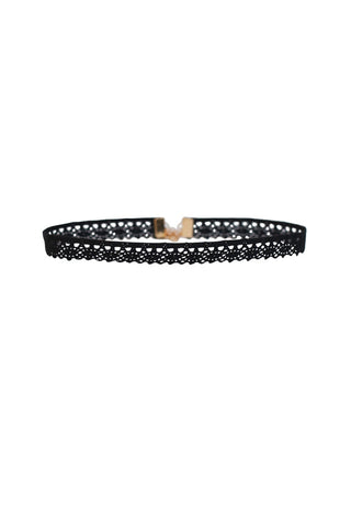 Aster Lace Choker in Black