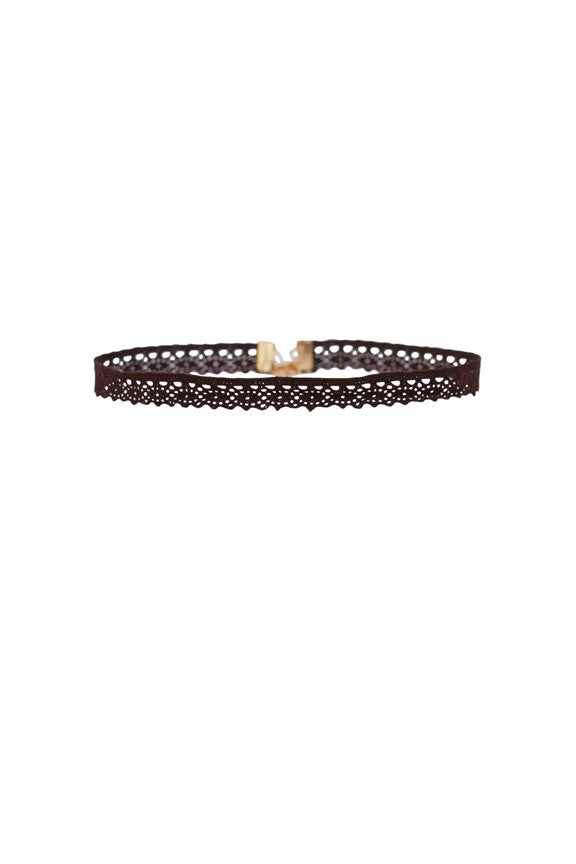 Aster Lace Choker in Chocolate
