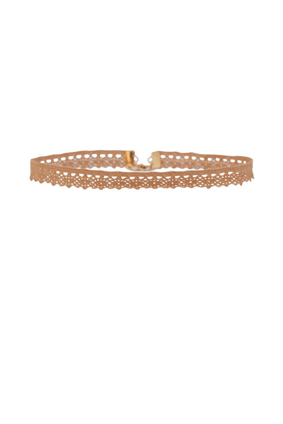 Aster Lace Choker in Gold