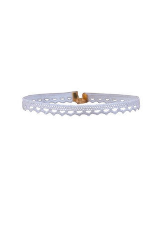 Aster Lace Choker in White
