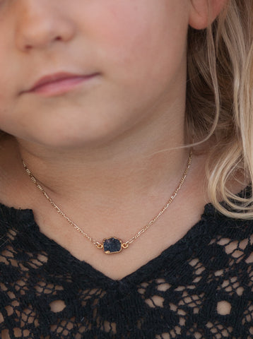 Black Druzy Necklace- ONLY ONE LEFT