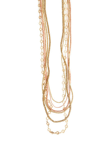 6 Layer Bohemian CO Topaz Necklace