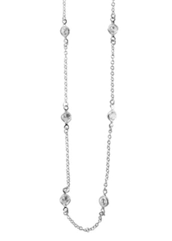 CZ Small Round Layer Necklace