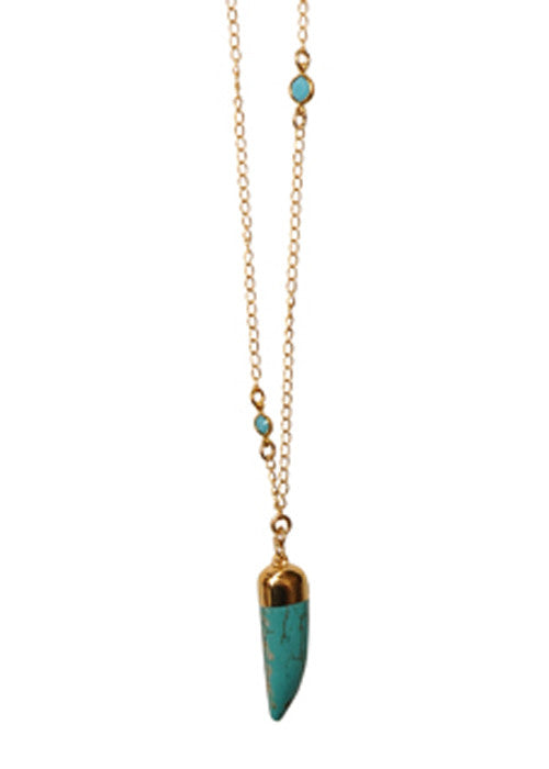 CROPTurquoise Crystal Tusk Necklace72dpi