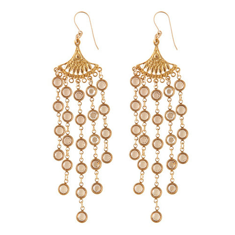 Bohemian Crystal Chandelier Earrings