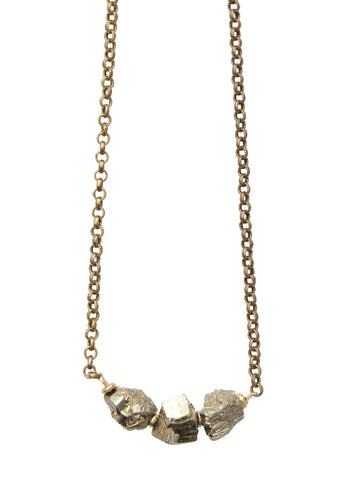 Medium Pyrite Rocker Necklace