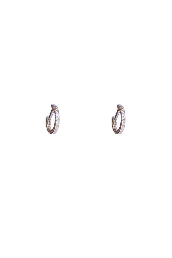 Diamond Hoops- Single or Pair