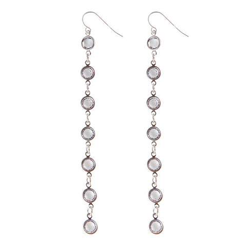 Foxy Crystal Drop Earrings