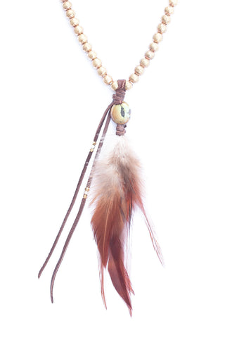 Goddess Sunlight Feather Necklace