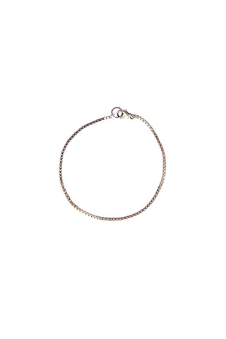 Petite Box Bracelet in Gold or Silver
