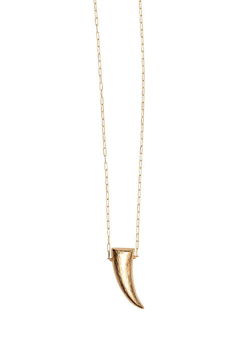 Golden Tusk Necklace - Sold Out