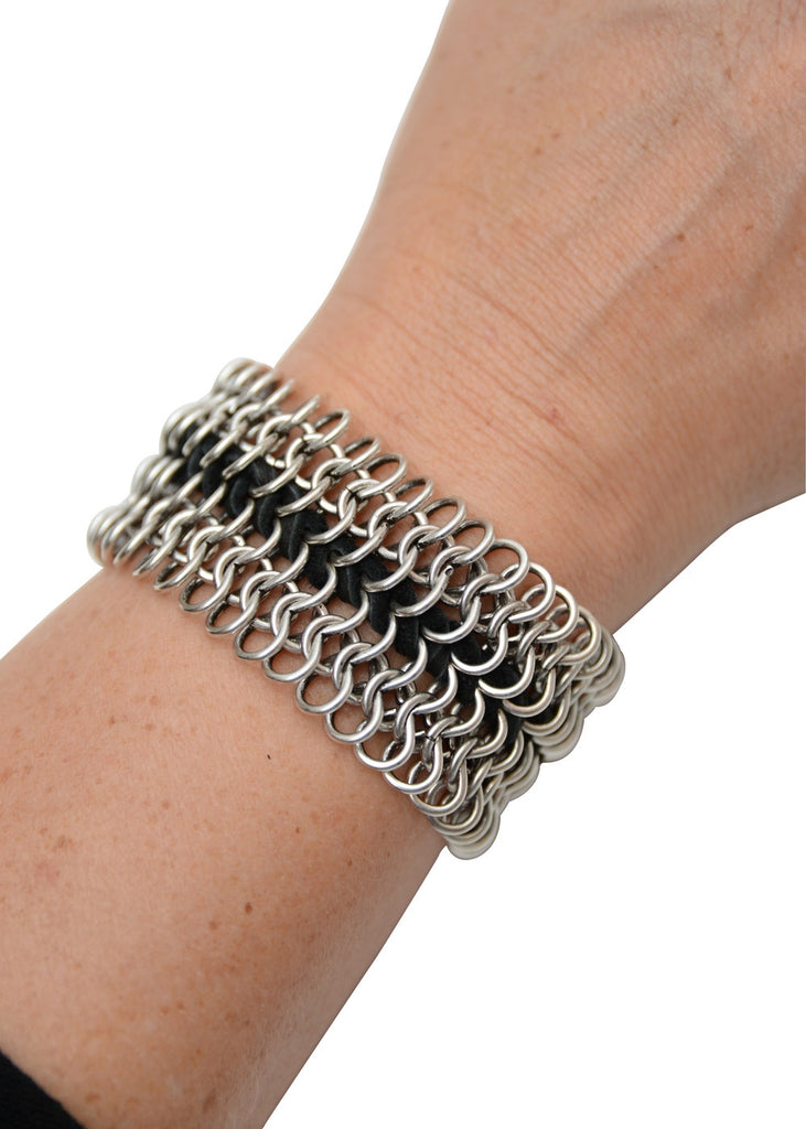 Gypsy Chain Leather Cuff