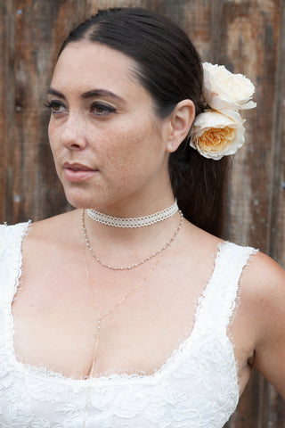Bridal Round Freshwater Pearl Link Necklace