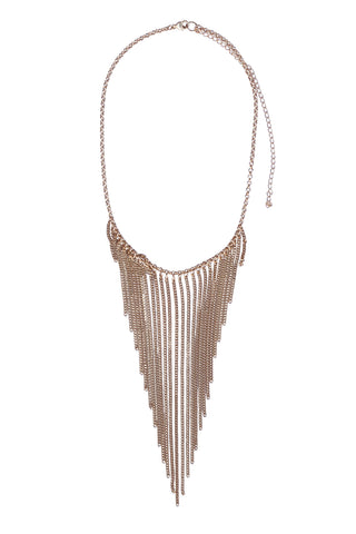 Fringe Chain Statement Necklace