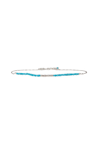 Goddess Gemstone Choker in Turquoise and Silver