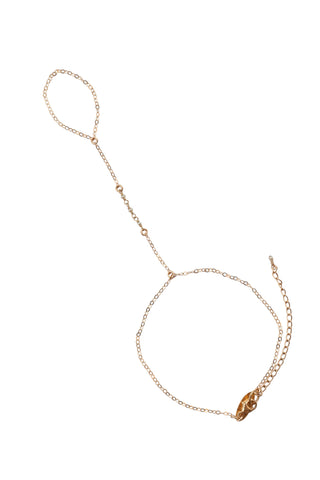 Bridal Three Freshwater Pearl Link Handchain