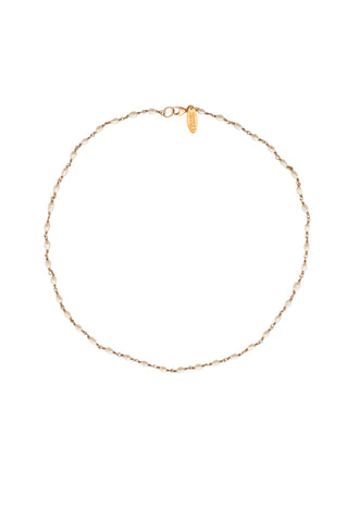 Bridal Oval Freshwater Pearl Link Necklace