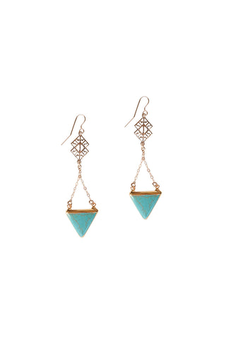 Iris Arrow Turquoise Earrings