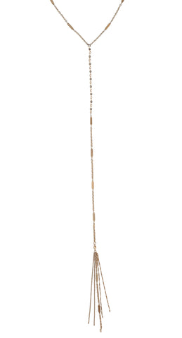 Desert Sunshine Lariat in Gold or Silver w/ Black Diamond Crystal