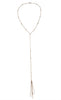 Desert Sunshine Lariat in Gold or Silver w/ White Crystal