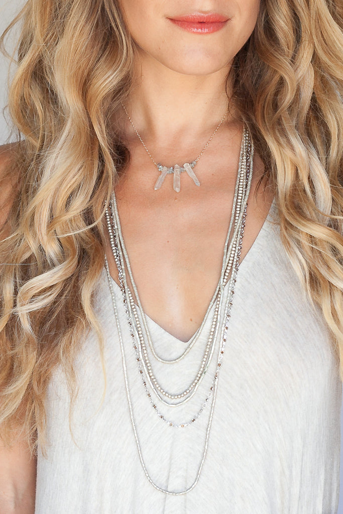 Gypsy Moon Crystal Necklace