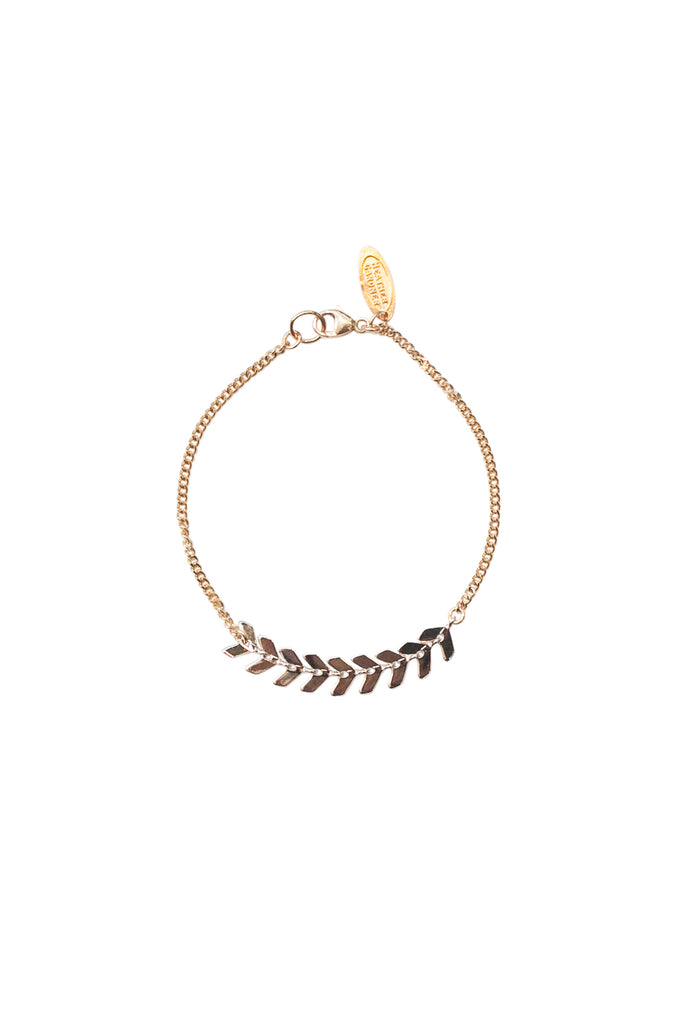 Chevron Chain Bracelet in Gold, Silver, Rose Gold, or Mixed Metal