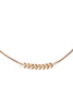 Chevron Necklace in Gold, Silver, Rose Gold, or Mixed Metal