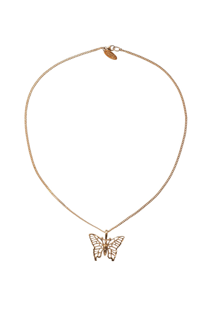 Vintage Butterfly Necklace in Gold, Rose Gold or Silver