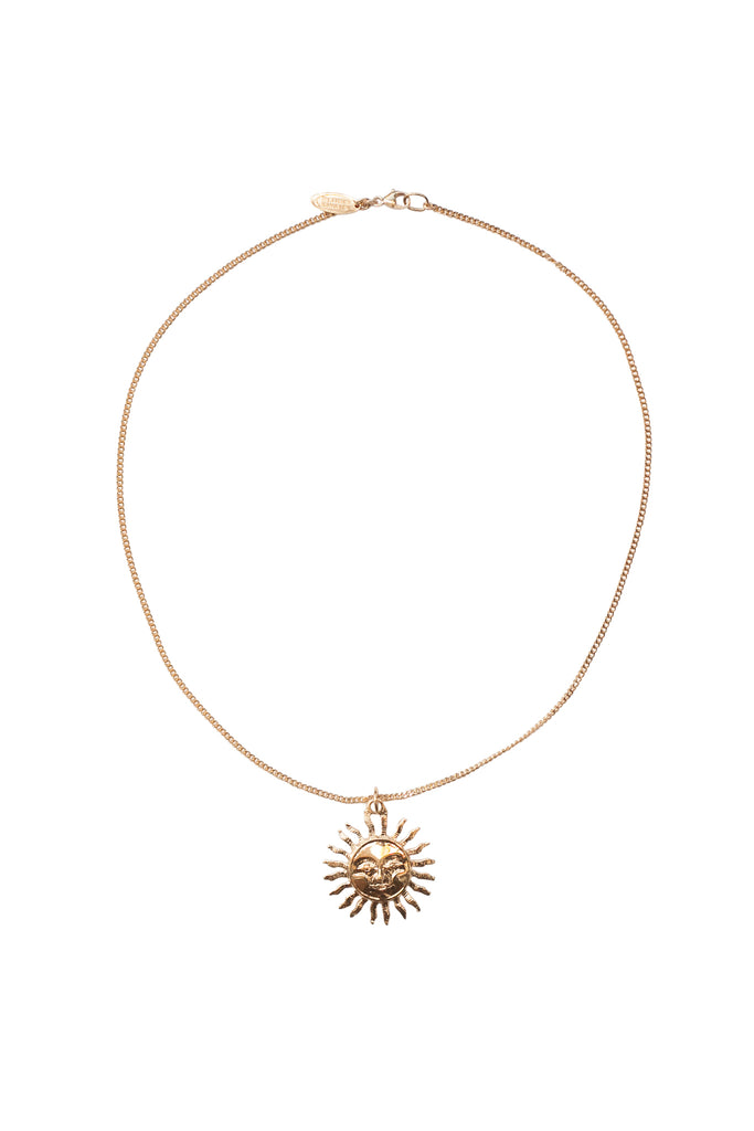 Vintage Sun Necklace in Gold, Rose Gold, or Silver