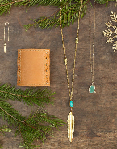 Holiday Bundle 3:  Turquoise & Feathers