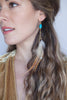 Turquoise Feather & Tusk Earrings