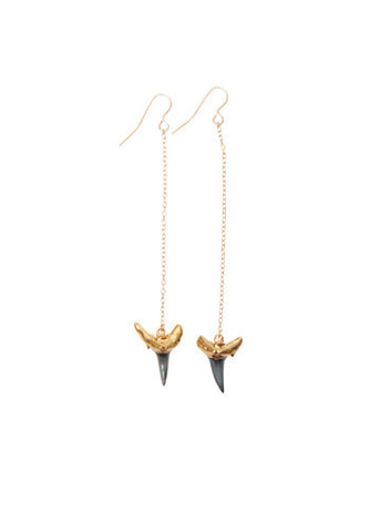 Baby Shark Tooth Earrings